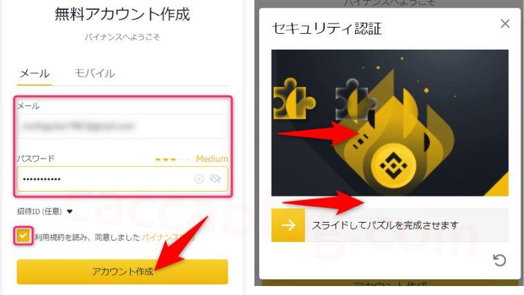 【100万握りしめ】バイナンスで登録・口座開設をしてコインチェックから送金する方法